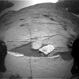 Nasa's Mars rover Curiosity acquired this image using its Front Hazard Avoidance Camera (Front Hazcam) on Sol 3219, at drive 174, site number 91