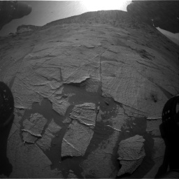 Nasa's Mars rover Curiosity acquired this image using its Front Hazard Avoidance Camera (Front Hazcam) on Sol 3219, at drive 222, site number 91