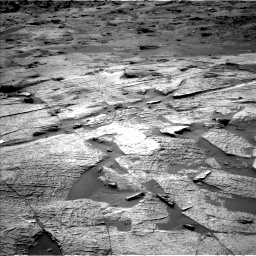 Nasa's Mars rover Curiosity acquired this image using its Left Navigation Camera on Sol 3219, at drive 132, site number 91
