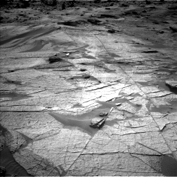 Nasa's Mars rover Curiosity acquired this image using its Left Navigation Camera on Sol 3219, at drive 252, site number 91