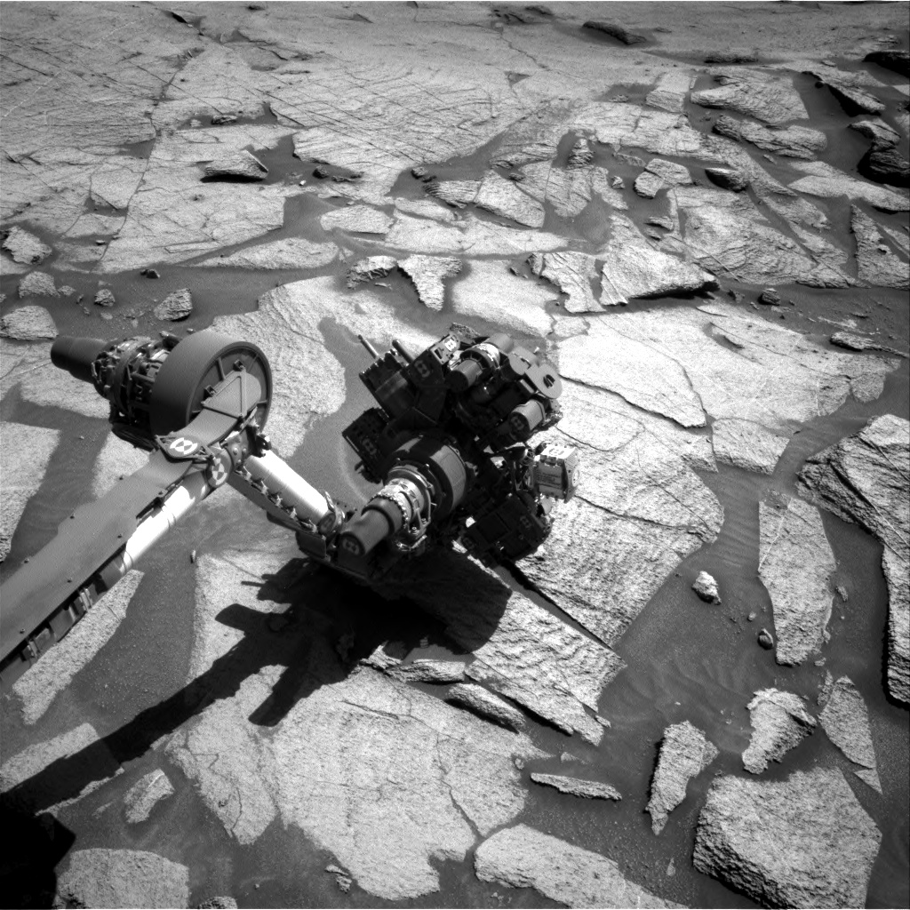 Nasa's Mars rover Curiosity acquired this image using its Right Navigation Camera on Sol 3219, at drive 0, site number 91