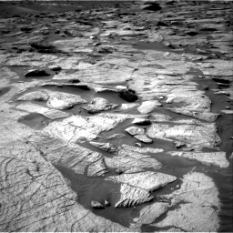 Nasa's Mars rover Curiosity acquired this image using its Right Navigation Camera on Sol 3219, at drive 48, site number 91