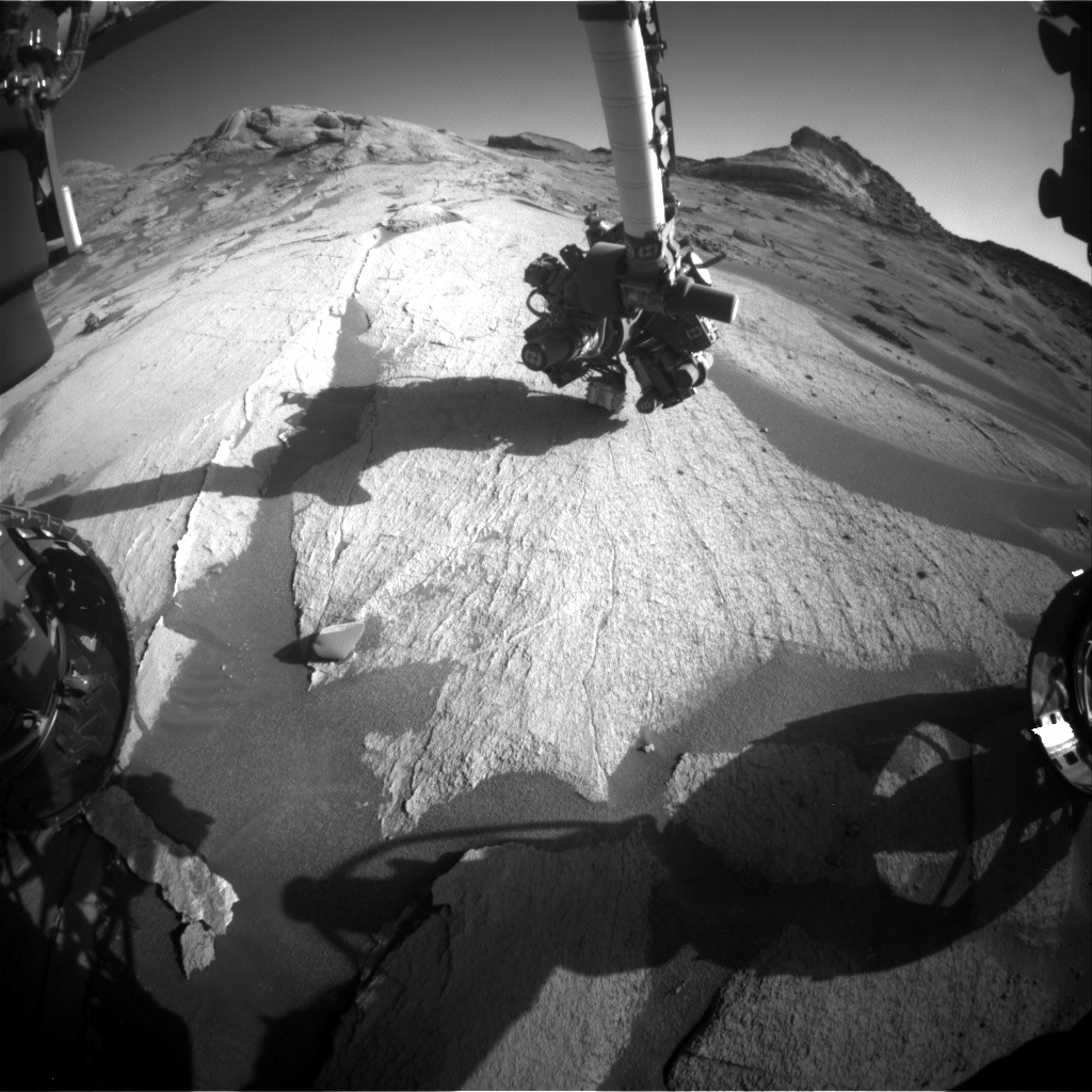 Nasa's Mars rover Curiosity acquired this image using its Front Hazard Avoidance Camera (Front Hazcam) on Sol 3224, at drive 390, site number 91