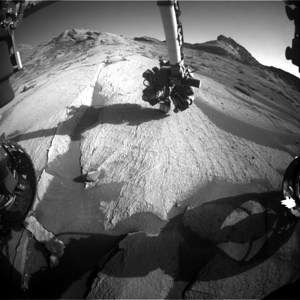 Nasa's Mars rover Curiosity acquired this image using its Front Hazard Avoidance Camera (Front Hazcam) on Sol 3225, at drive 390, site number 91