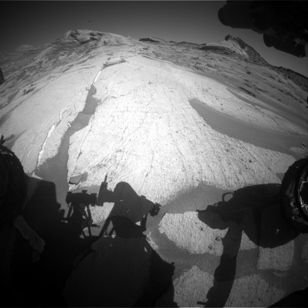 Nasa's Mars rover Curiosity acquired this image using its Front Hazard Avoidance Camera (Front Hazcam) on Sol 3228, at drive 390, site number 91
