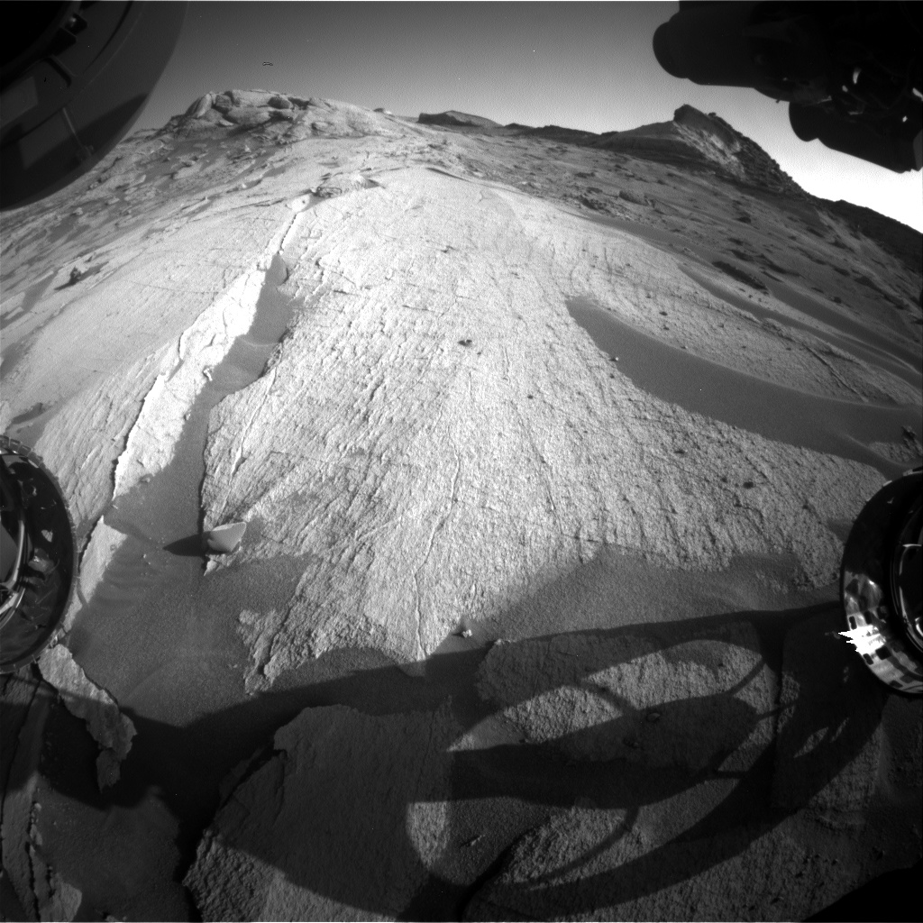 Nasa's Mars rover Curiosity acquired this image using its Front Hazard Avoidance Camera (Front Hazcam) on Sol 3232, at drive 390, site number 91