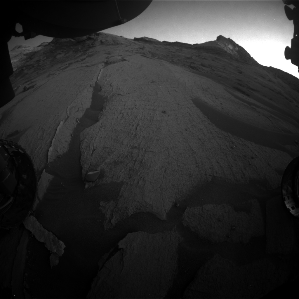 Nasa's Mars rover Curiosity acquired this image using its Front Hazard Avoidance Camera (Front Hazcam) on Sol 3234, at drive 390, site number 91