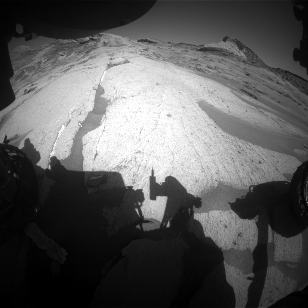 Nasa's Mars rover Curiosity acquired this image using its Front Hazard Avoidance Camera (Front Hazcam) on Sol 3240, at drive 390, site number 91