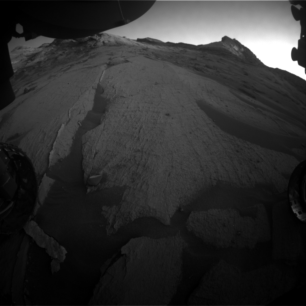 Nasa's Mars rover Curiosity acquired this image using its Front Hazard Avoidance Camera (Front Hazcam) on Sol 3244, at drive 390, site number 91