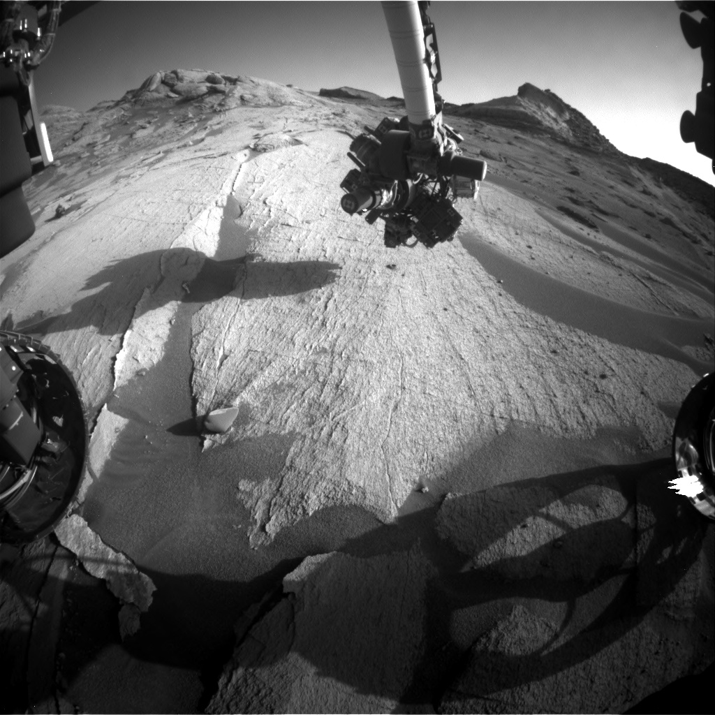 Nasa's Mars rover Curiosity acquired this image using its Front Hazard Avoidance Camera (Front Hazcam) on Sol 3245, at drive 390, site number 91