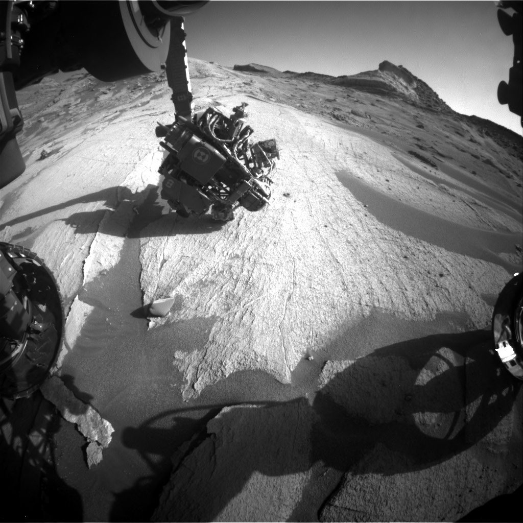 Nasa's Mars rover Curiosity acquired this image using its Front Hazard Avoidance Camera (Front Hazcam) on Sol 3246, at drive 390, site number 91