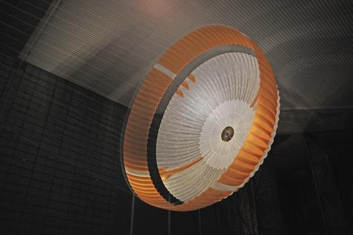 Open Parachute During Tests for Mars Science Laboratory