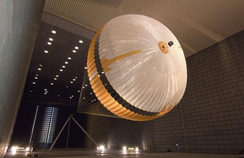 Mars Parachute Testing in World's Largest Wind Tunnel