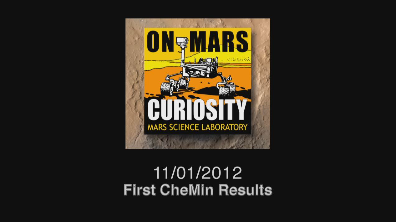 see the image 'First CheMin Results'