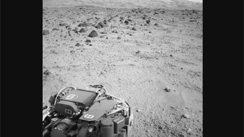 see the image 'Trek to Mount Sharp Begins'