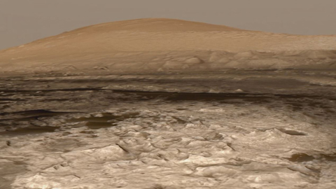 see the image 'We made it! Curiosity reaches Mount Sharp'