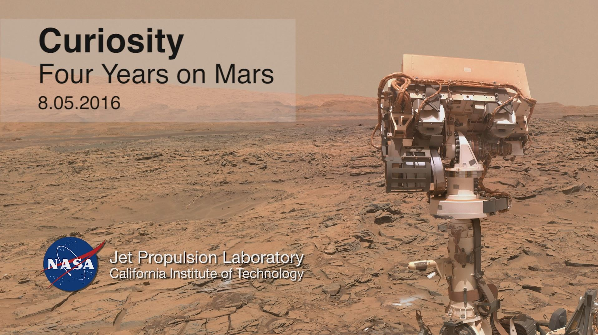 see the image 'Curiosity Rover Report: Four Years on Mars'