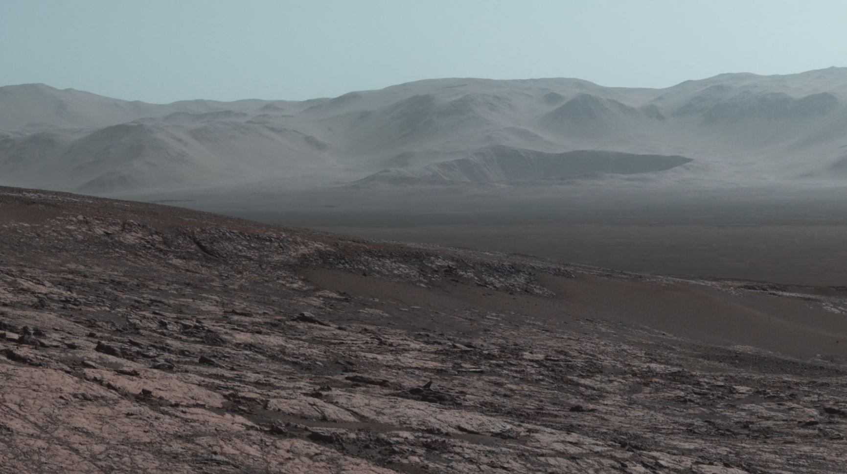 see the image 'Curiosity at Martian Scienic Overlook'