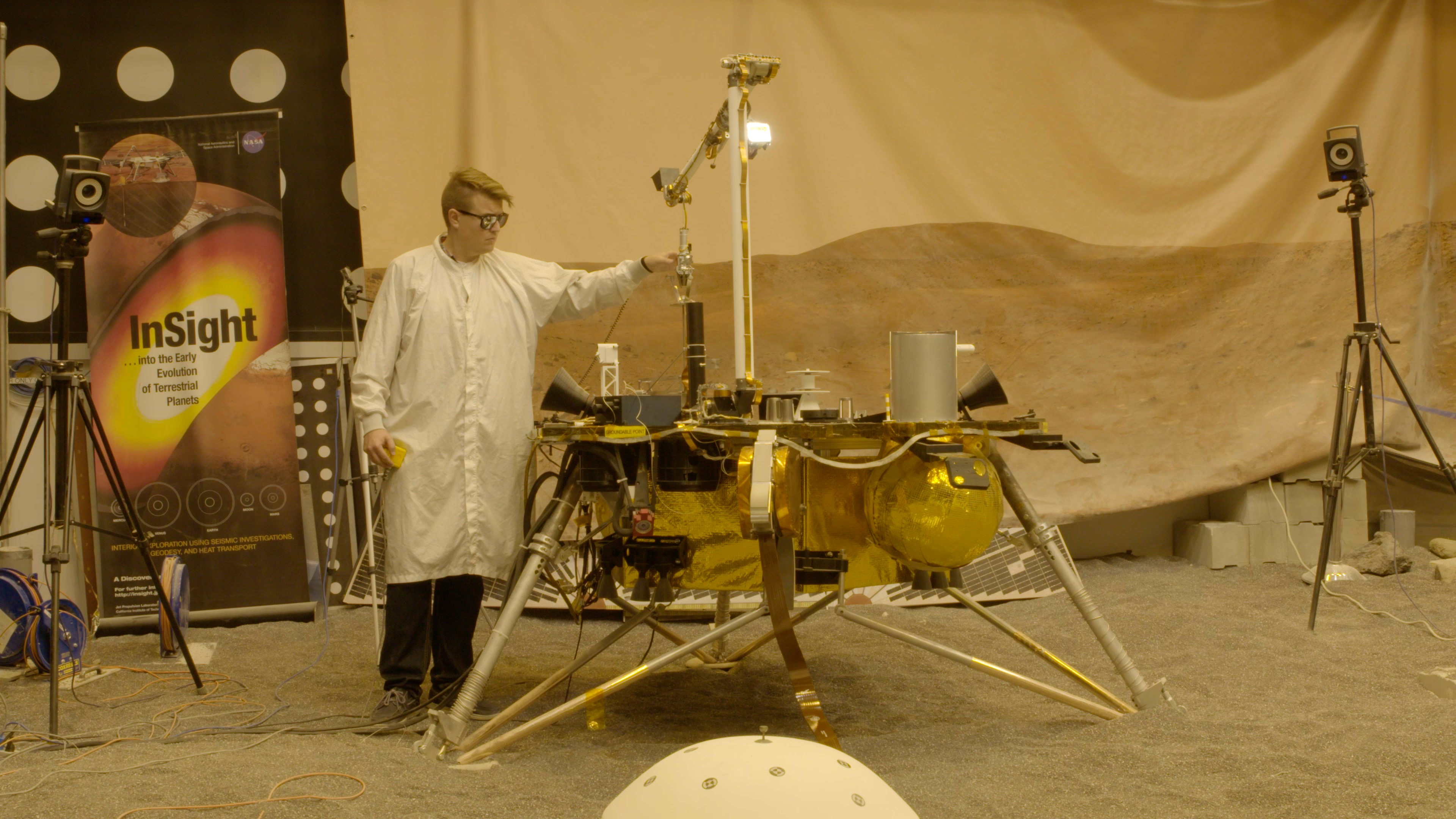 see the image 'Engineering For Mars: InSight Mission Test Lab (360 Video)'