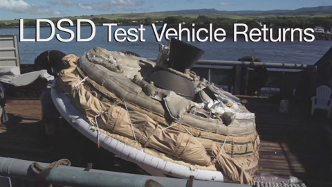 see the image 'LDSD Test Vehicle Returns'