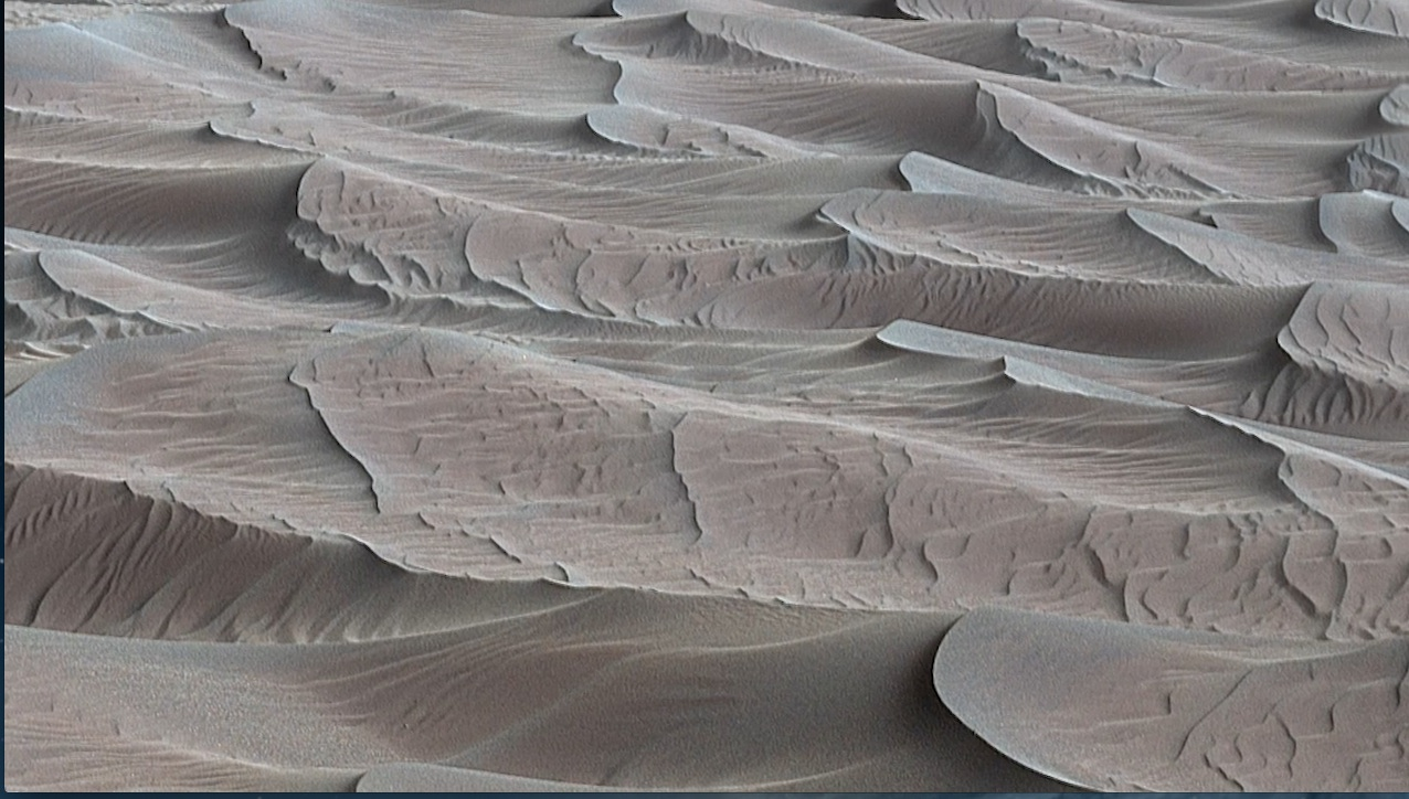 see the image 'Curiosity Rover Report (Dec. 15, 2015): First Visit to Martian Dunes'