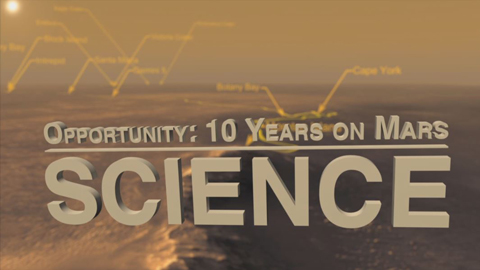see the image 'Opportunity: 10 Years on Mars - Science'