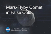 Mars-Flyby Comet in False Color