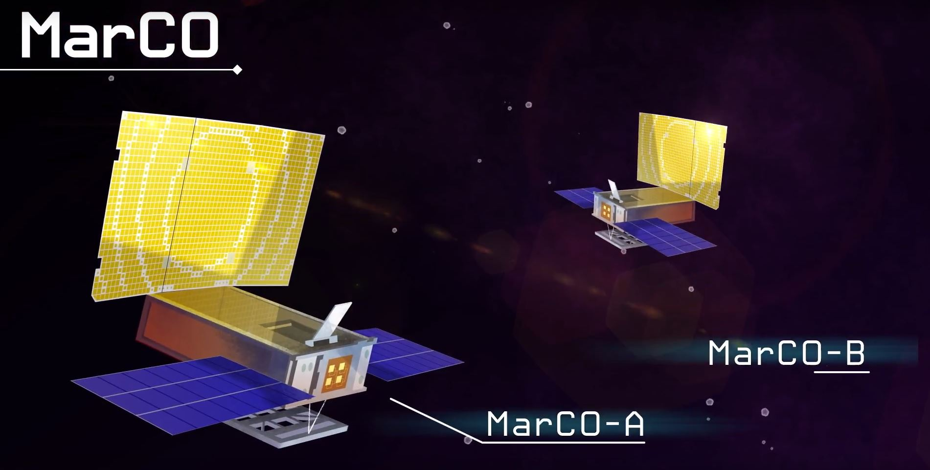 see the video 'NASA's First Deep Space CubeSats'