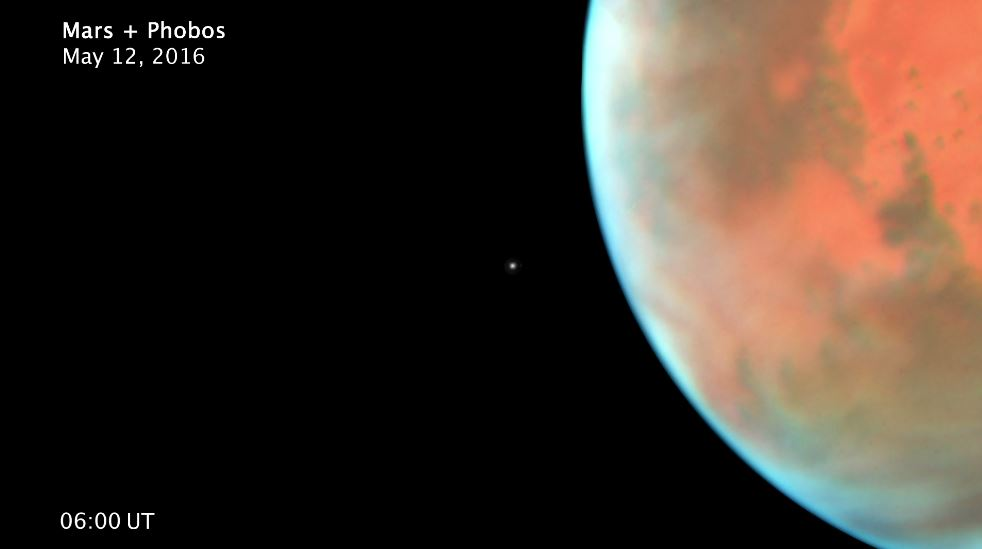 see the video 'Time-lapse Video of Phobos in Orbit around Mars (Annotated and Smoothed)'