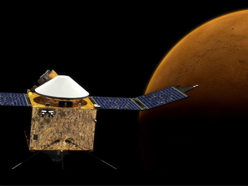 read the article 'MAVEN: Mars Atmospheric Loss'