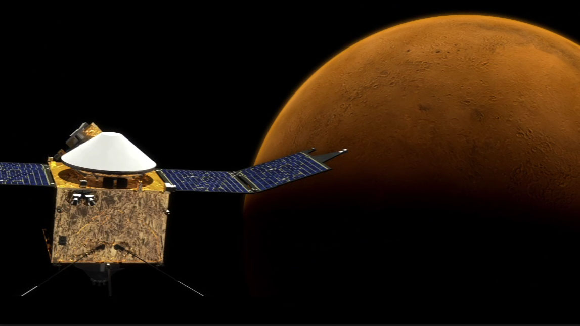 see the image 'MAVEN: Mars Atmospheric Loss'