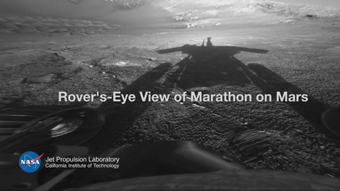 see the image 'Rover's-Eye View of Marathon on Mars'