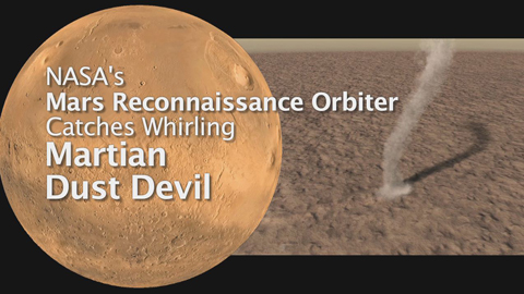 see the image 'Mars' Whirling Dust Devil'