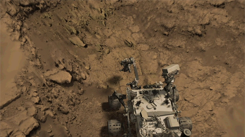 see the image 'Simulation of Martian Bedrock Drilling'