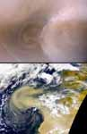 Recent Mars and Earth Dust Storms Compared