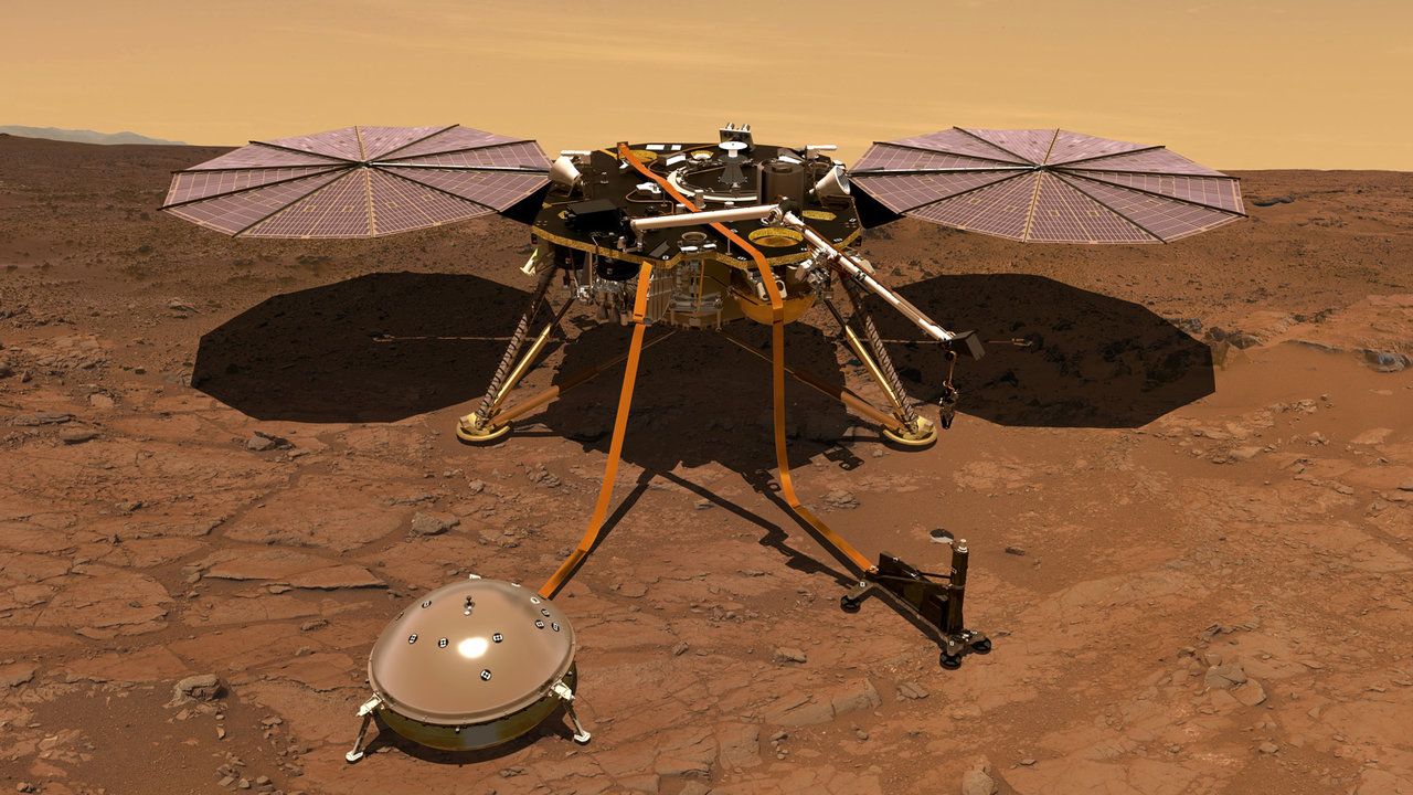 Artist's Concept of InSight on Mars