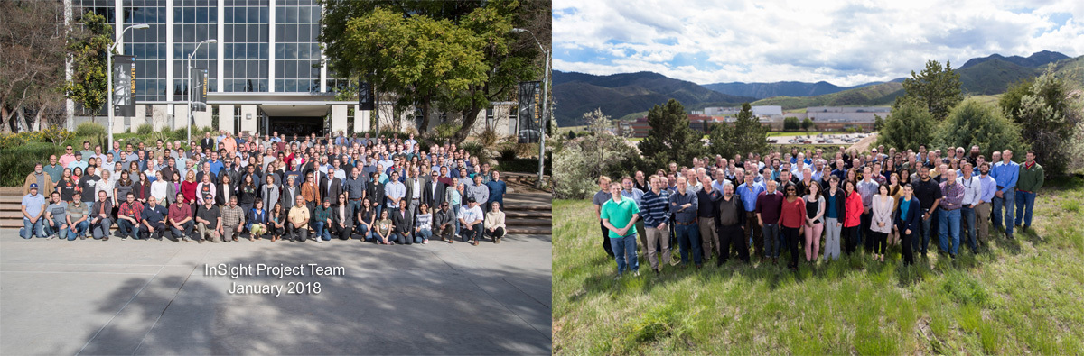 2018 Team Photo at JPL and 2017 Team Photo at Lockheed Martin