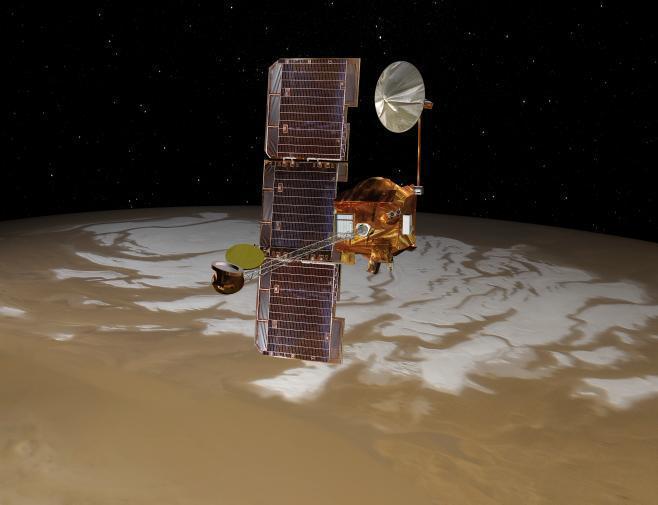 Artist's concept of Mars Odyssey 2001 orbiter