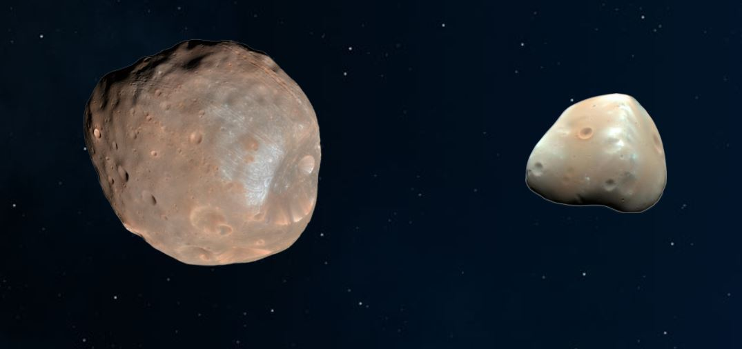 There are two martian moons.
