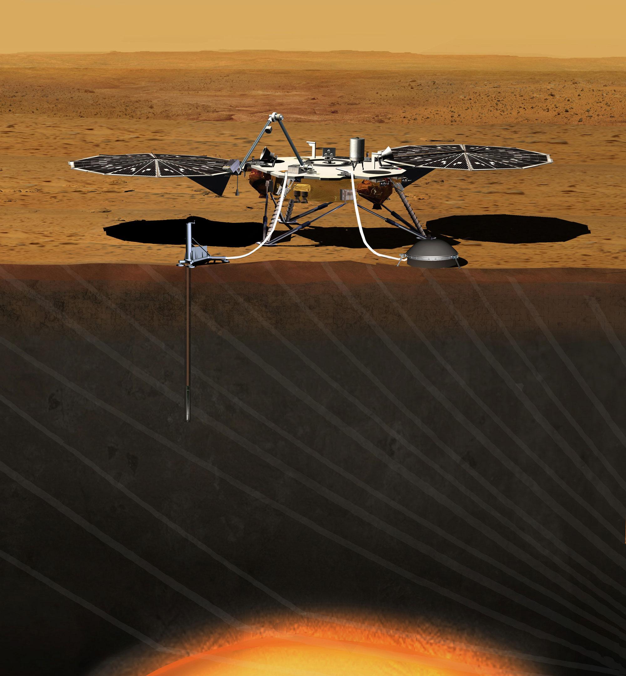 Artist's Concept of InSight Lander on Mars – NASA's Mars ...