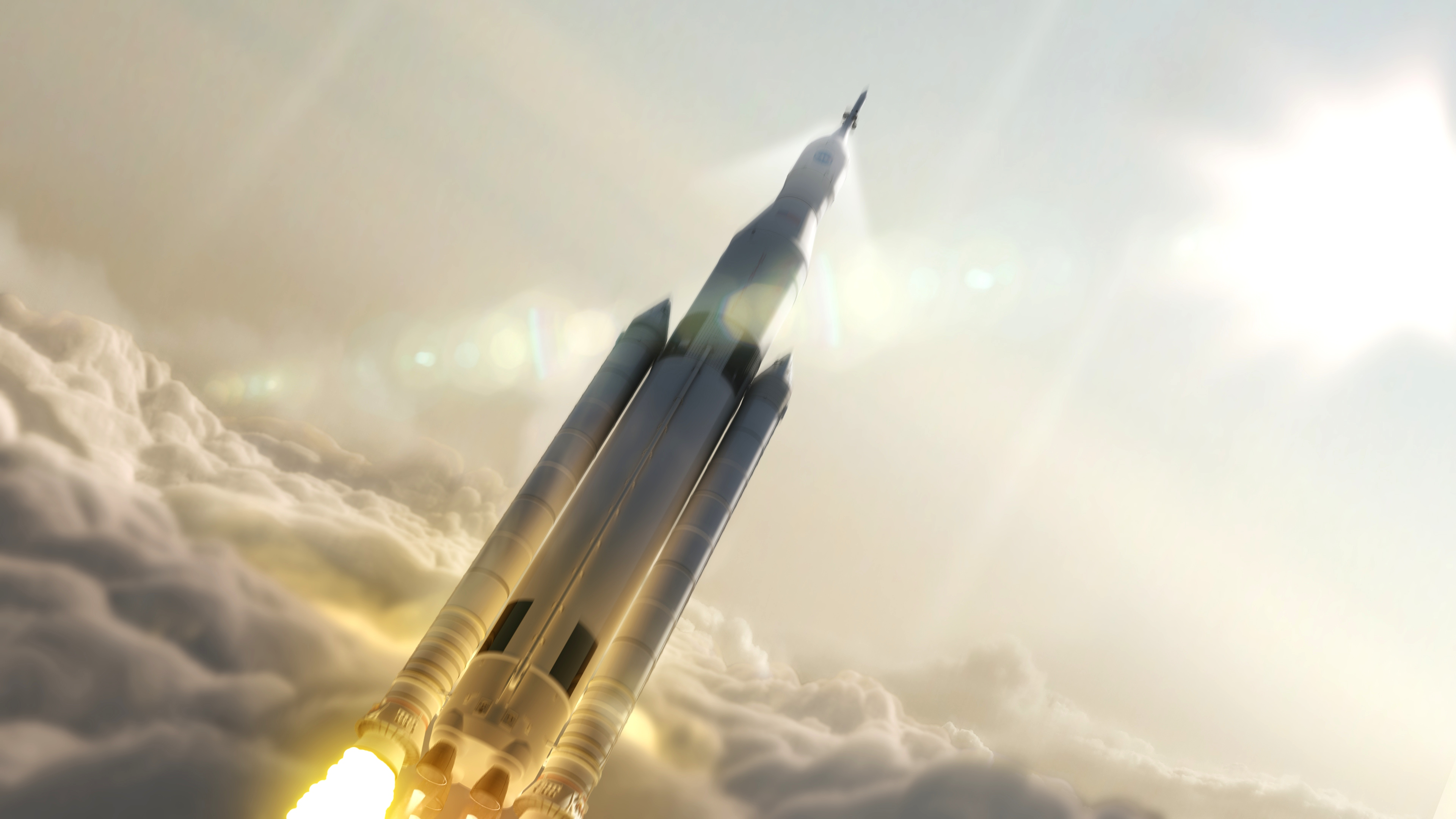 Space Launch System Rocket Clearing The Clouds Nasa S