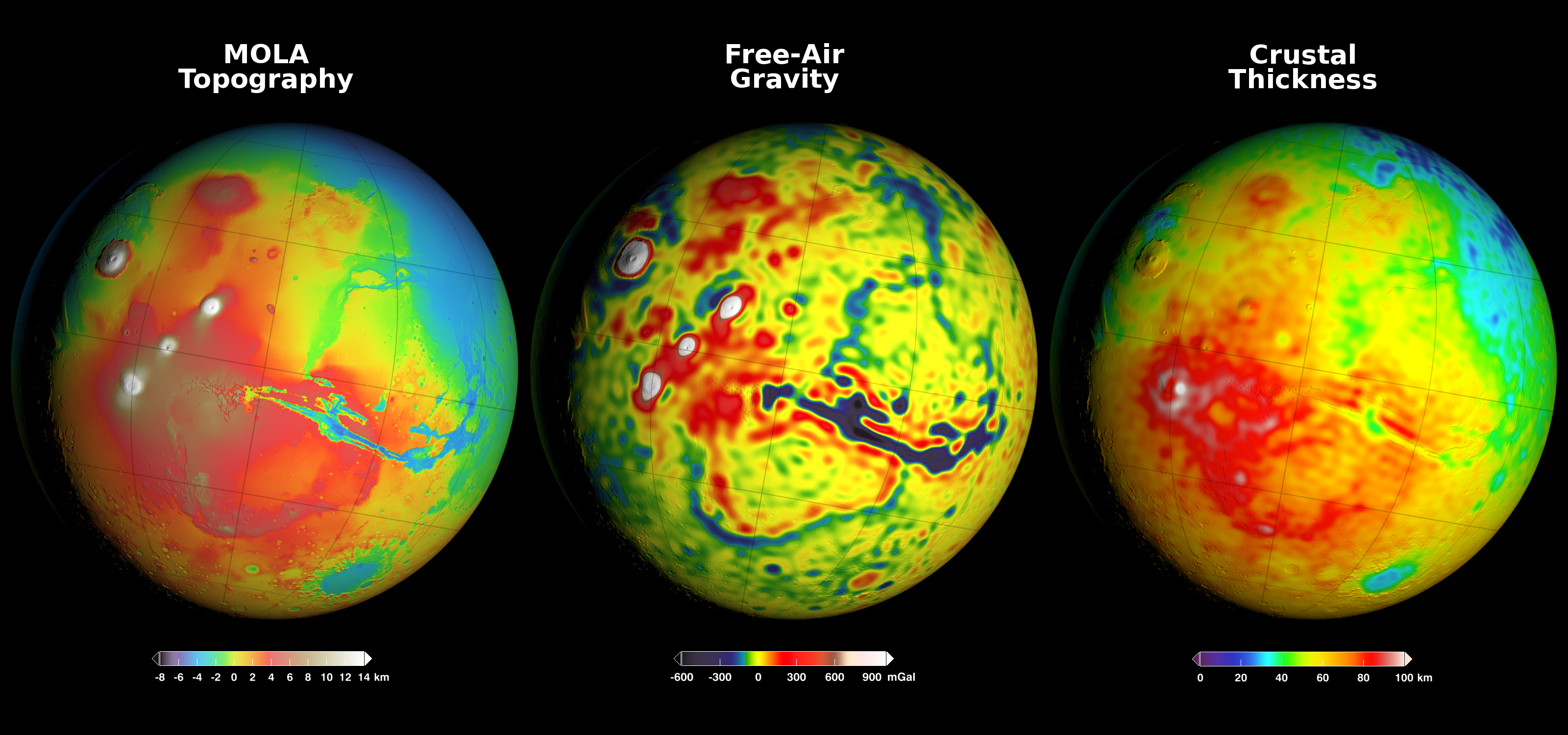 Using gravity and topography to map mars crustal thickness nasas download gumiabroncs Images