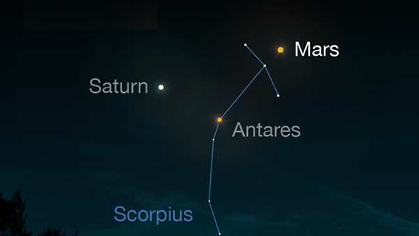 Mars in the Night Sky