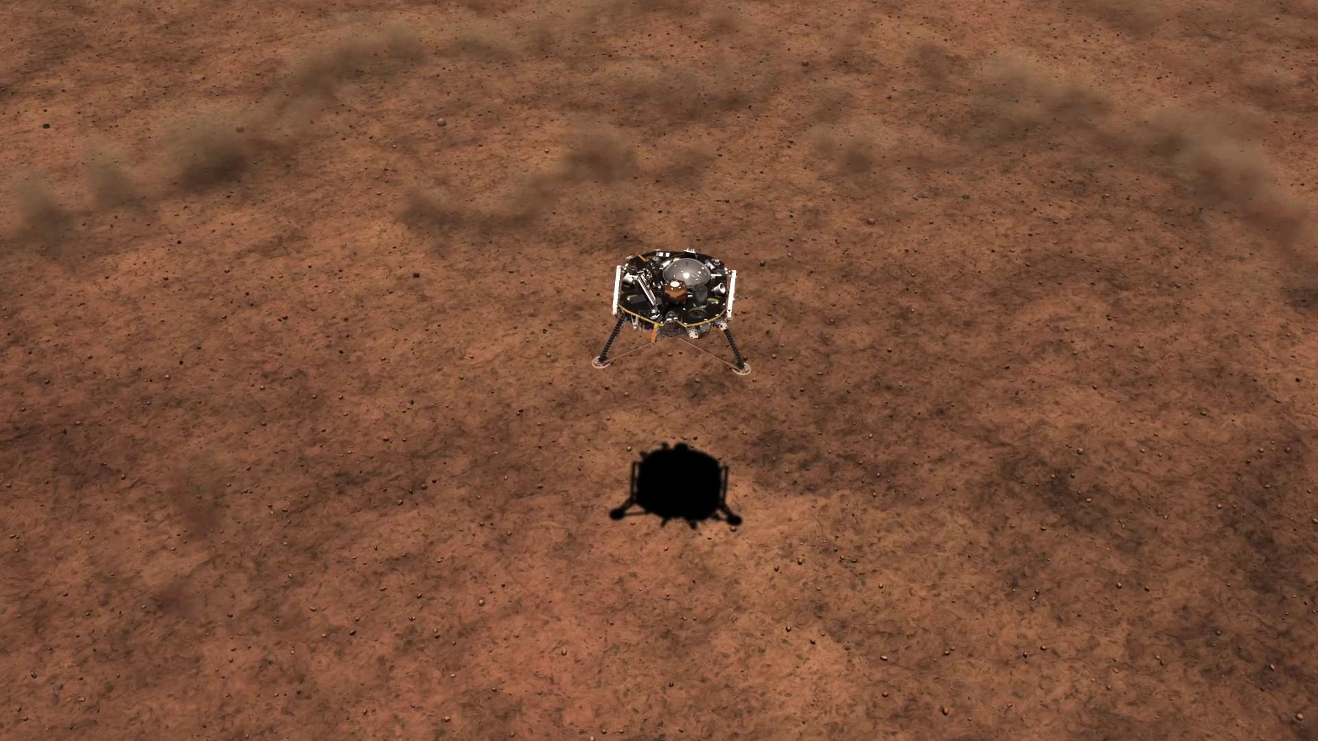 slide 3 - his artist's concept depicts the smooth, flat ground that dominates InSight's landing ellipse in the Elysium Planitia region of Mars.