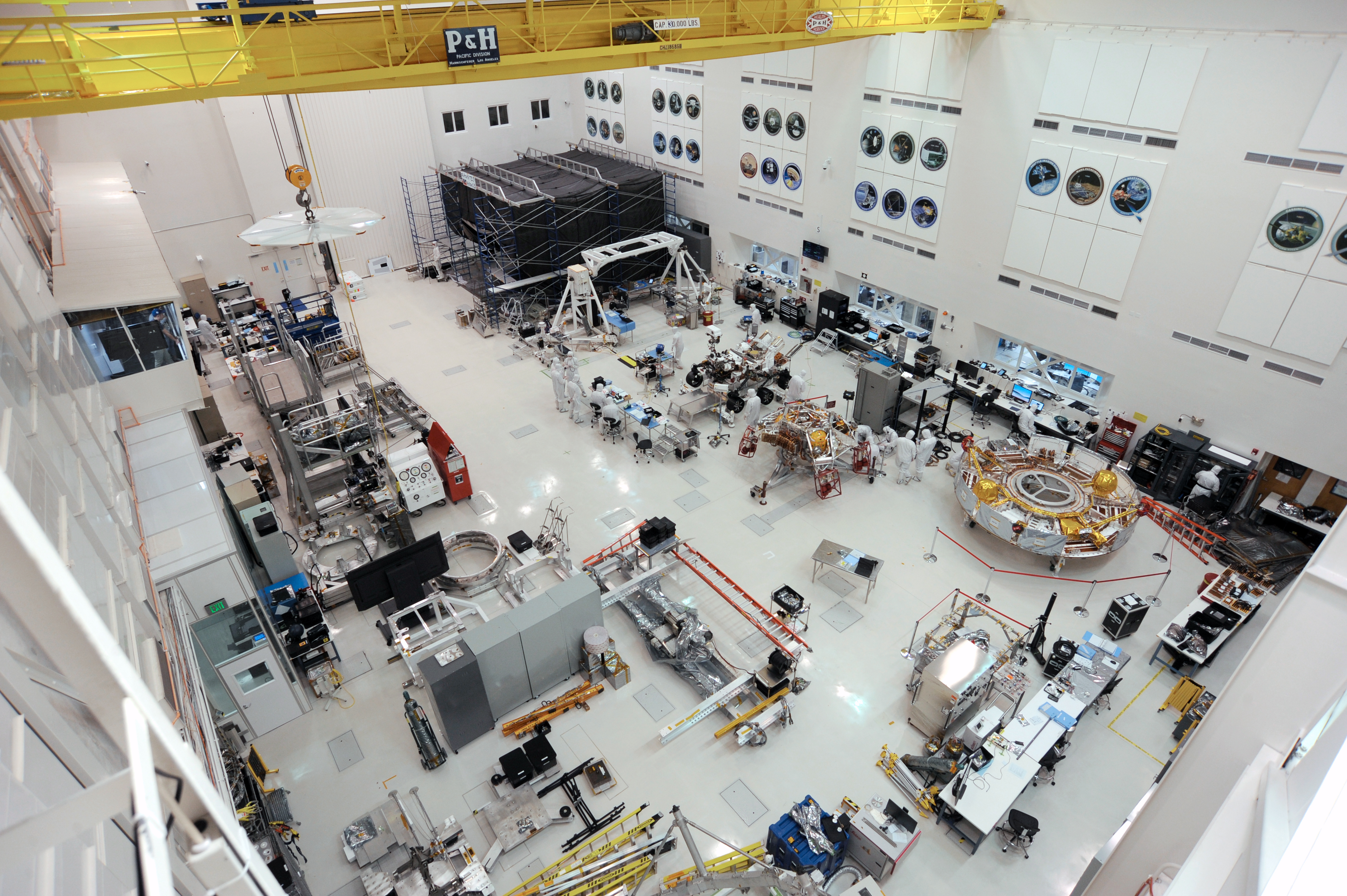 slide 4 - Mars 2020 in JPL's Spacecraft Assembly Facility