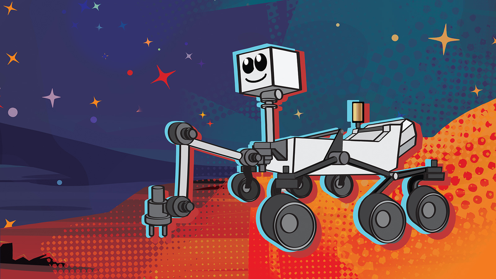 slide 1 - This illustration depicts NASA's next Mars rover, which launches in 2020.