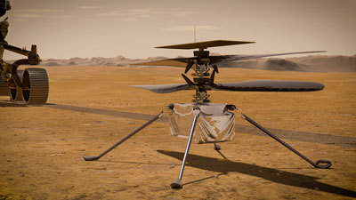 Artist's concept of the Mars Helicopter