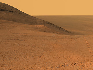Martian Skies Clearing over Opportunity Rover