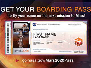 read the article 'NASA Invites Public to Submit Names to Fly Aboard Next Mars Rover'