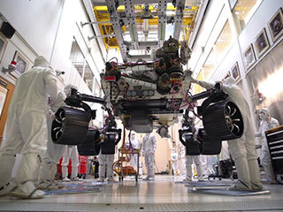 read the article 'Mars 2020 Stands on Its Own Six Wheels'